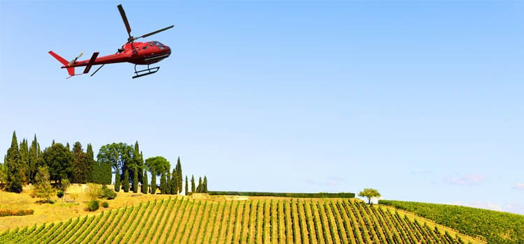 Helicopter Aerial Agriculture - Overwatering - Drying