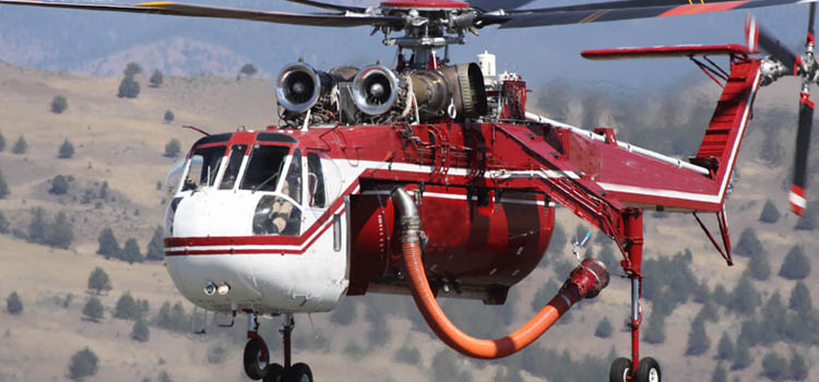 Air crane helicopter - Sikorsky S-64 Skycrane