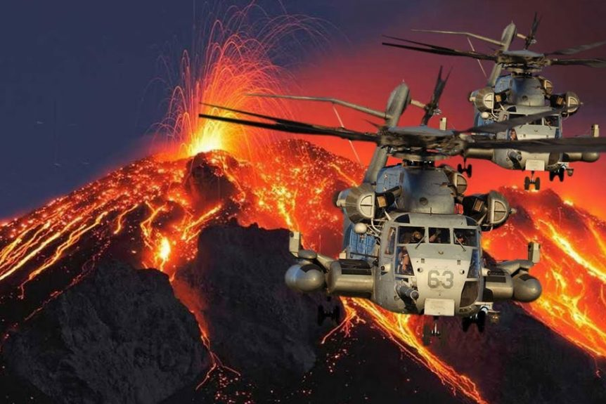 Kilauea Volcano Disaster Emergency Helicopters