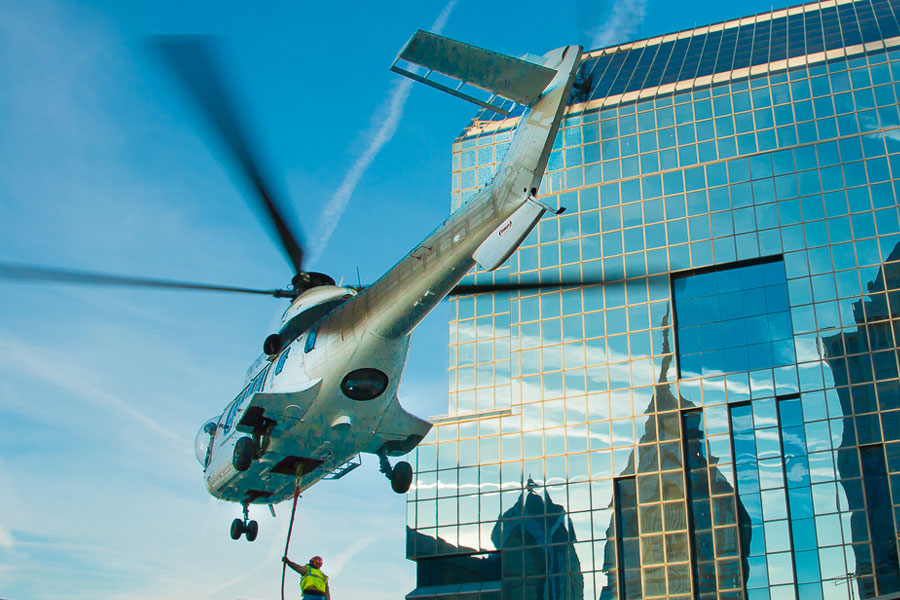 Aerial Precision Placement of Signage Made Easy with Heavy lift Helicopters