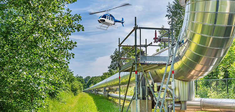 Helicopter Pipeline Surveys in Texas