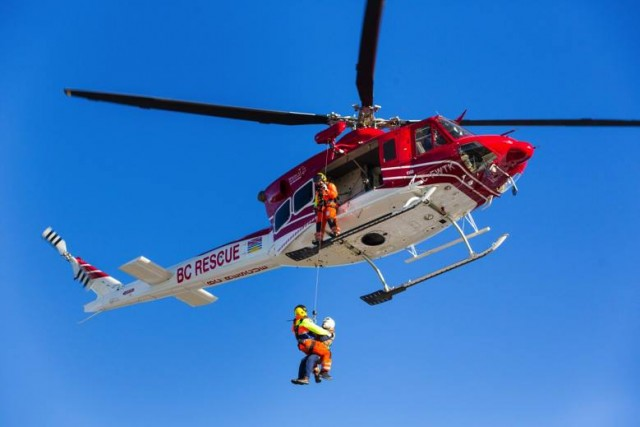 Okanagan Helicopter Rescue, Disaster Averted in Recovery of Man Stranded on a Cliff