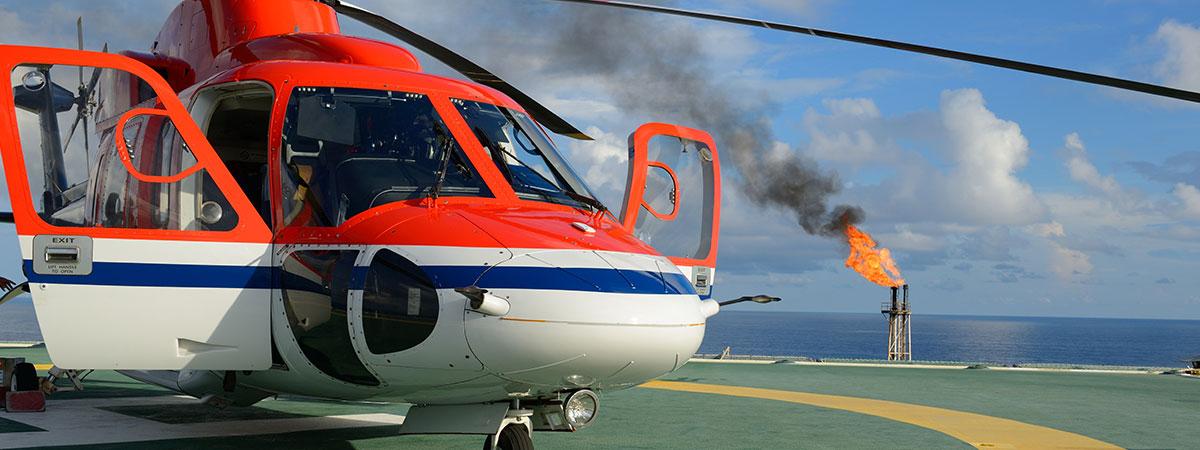 Oil Platform Helicopter Support