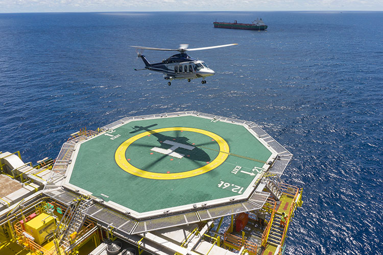 Offshore Helicopter Charters to Gulf of Mexico Oil Rigs