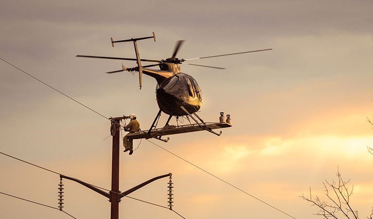 Transmission Line Construction - Oakland Helicopter Services