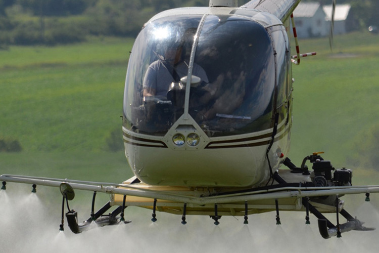 Aerial Applications of Fungicide During Hot and Humid Seasons