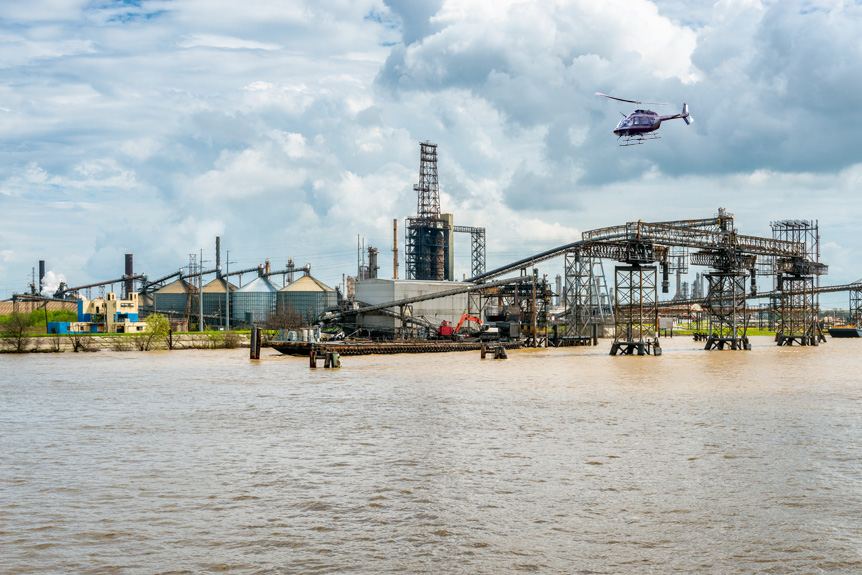 Aerial Pipeline Survey, New Orleans