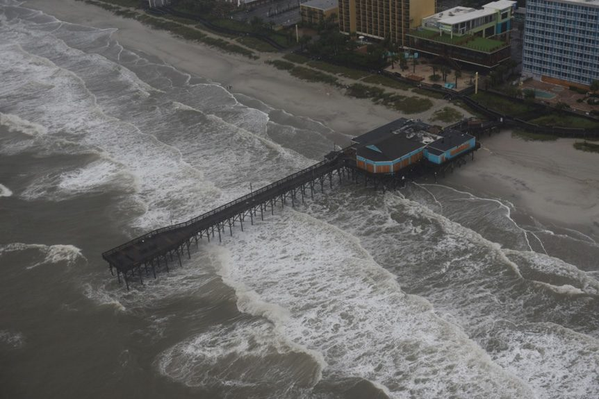 Helicopter Support for Hurricanes in Myrtle Beach, SC