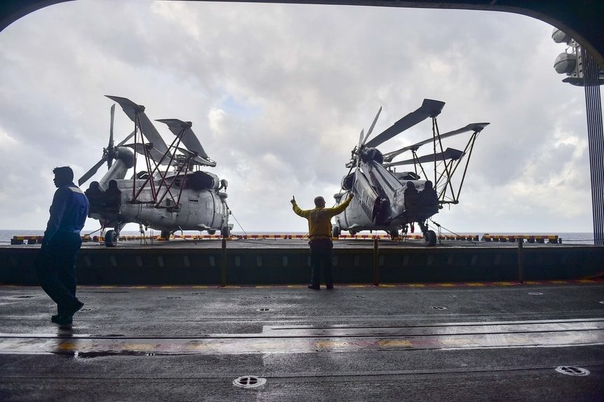 Helicopter Support for Hurricanes in Key West, Florida