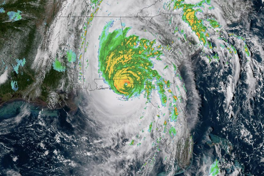 Helicopters Offer Assistance After Hurricane Michael Hits Florida Panhandle