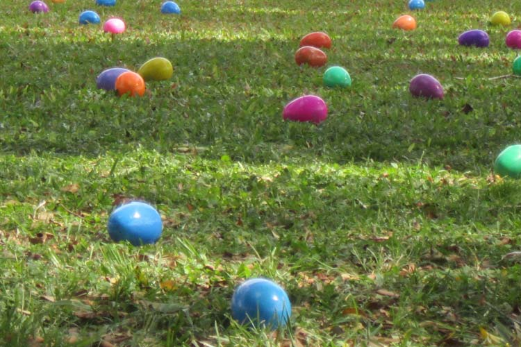 Helicopter Easter Egg Drops
