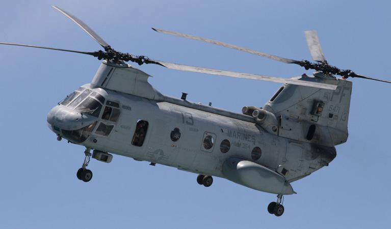 "Boeing CH-46 ""Sea Knight"" - Aerial Firefighting"